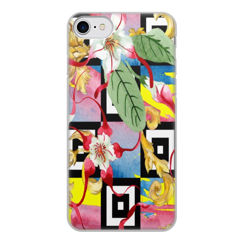 Printio Чехол для iPhone 8, объёмная печать цветочный узор чехол