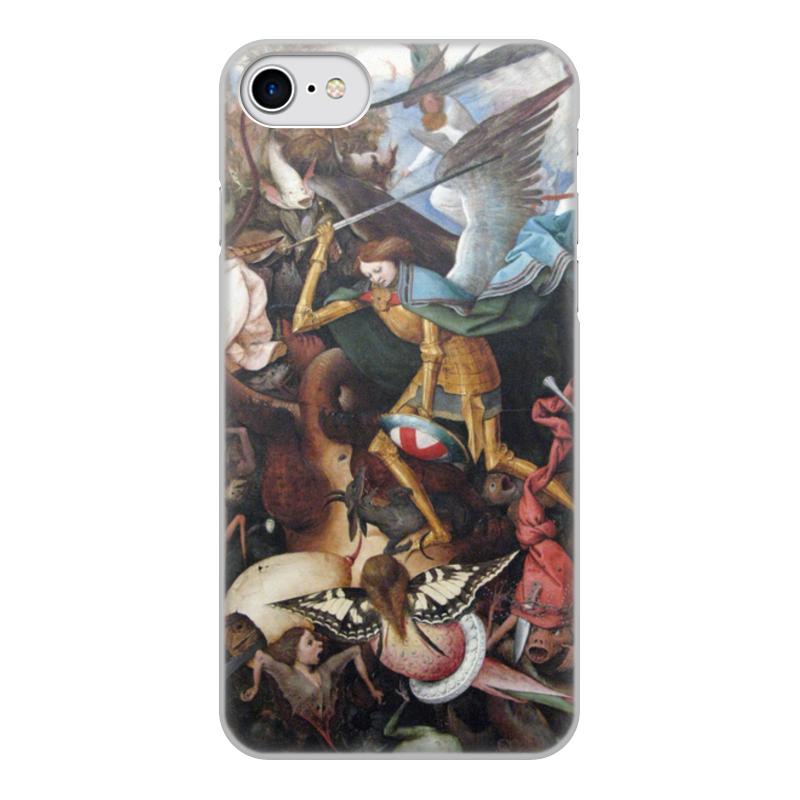 Printio Чехол для iPhone 8, объёмная печать Архангел михаил (картина брейгеля)