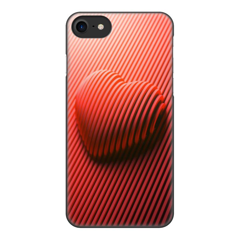 Printio Чехол для iPhone 8, объёмная печать Сердце