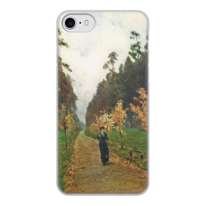 Printio Чехол для iPhone 8, объёмная печать Осенний день. сокольники (левитан)