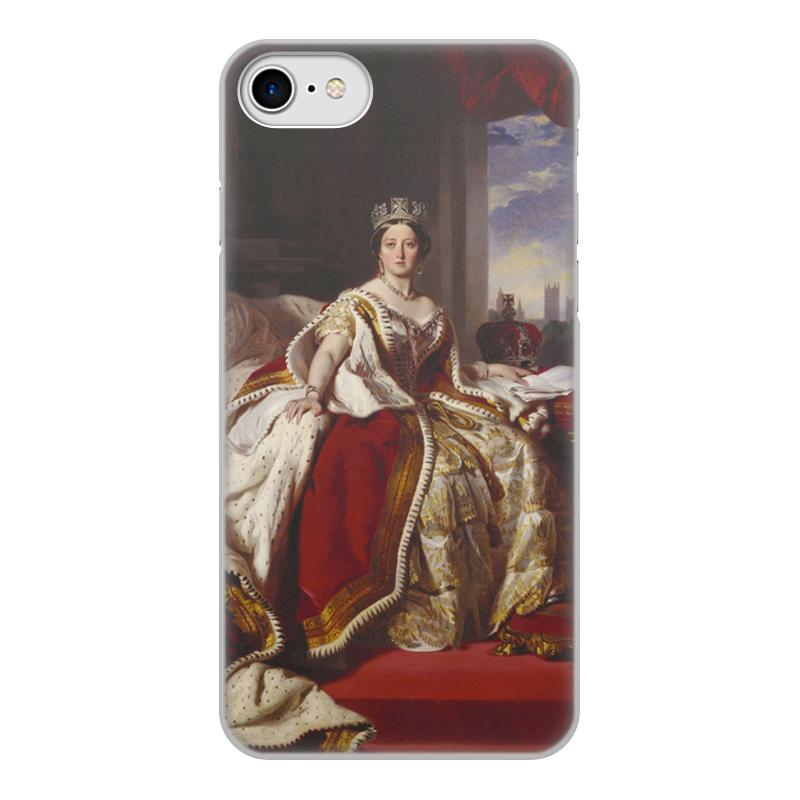 Printio Чехол для iPhone 8, объёмная печать Портрет королевы великобритании виктории