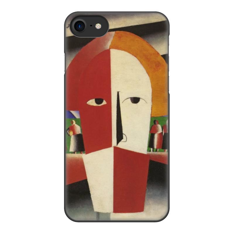 чехол для iphone 8 объёмная печать printio торс фигура с розовым лицом малевич Printio Чехол для iPhone 8, объёмная печать Голова крестьянина (казимир малевич)