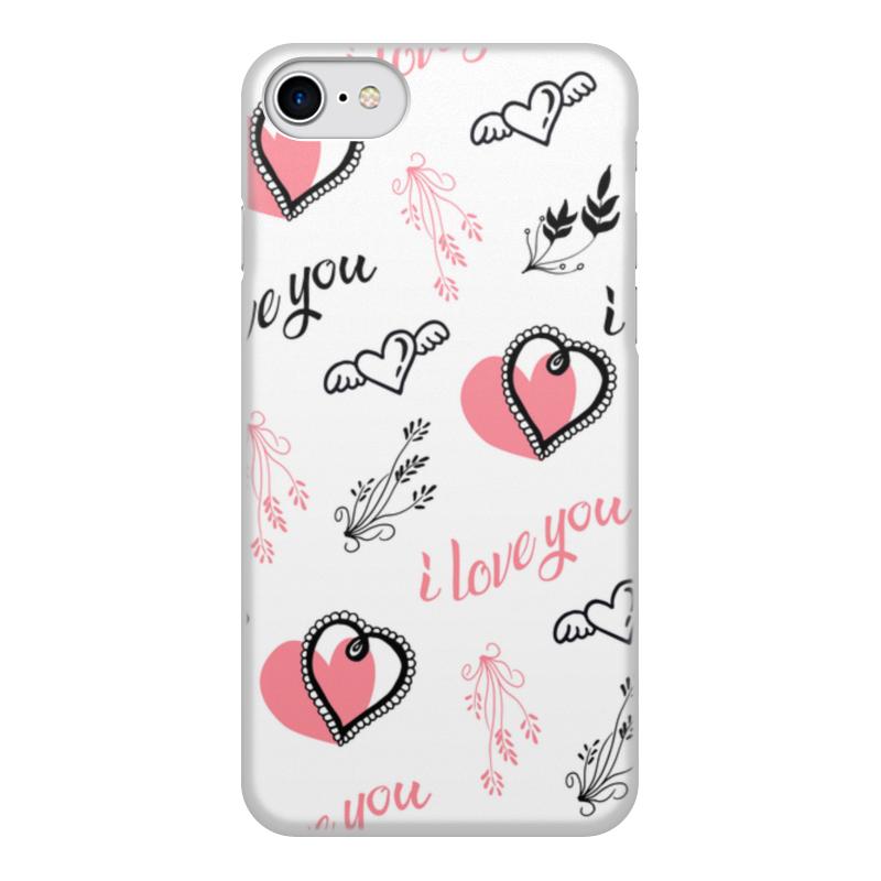 Printio Чехол для iPhone 8, объёмная печать Любовь чехол