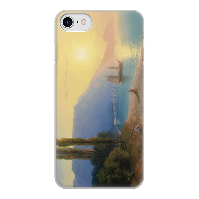 Printio Чехол для iPhone 8, объёмная печать Закат в ялте (картина айвазовского)