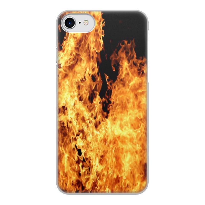 Printio Чехол для iPhone 8, объёмная печать Огонь чехол