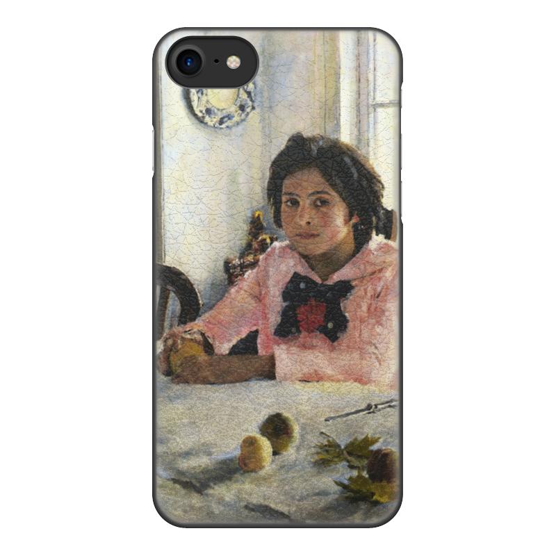 Printio Чехол для iPhone 8, объёмная печать Девочка с персиками (валентин серов)