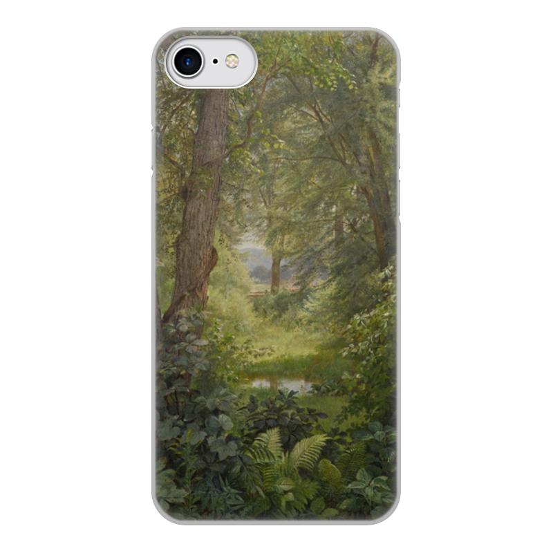 Printio Чехол для iPhone 8, объёмная печать Лесной пейзаж (уильям трост ричардс)