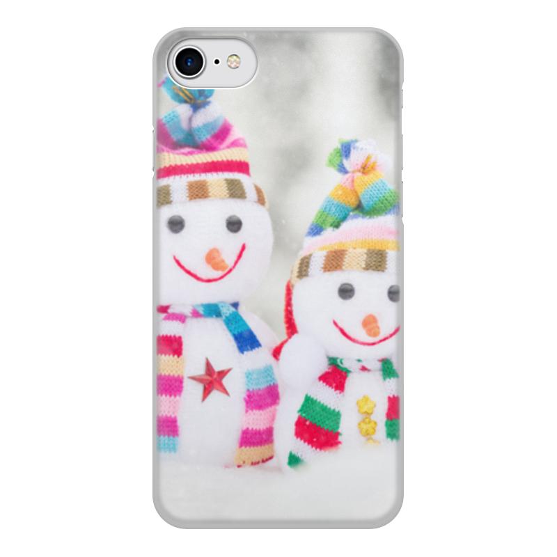 Printio Чехол для iPhone 8, объёмная печать Снеговик чехол