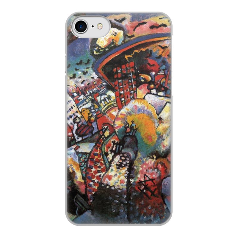 Printio Чехол для iPhone 8, объёмная печать Москва. красная площадь. (картина кандинского)
