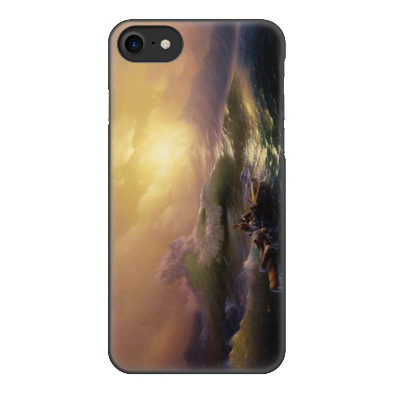 Printio Чехол для iPhone 8, объёмная печать Девятый вал (картина айвазовского)