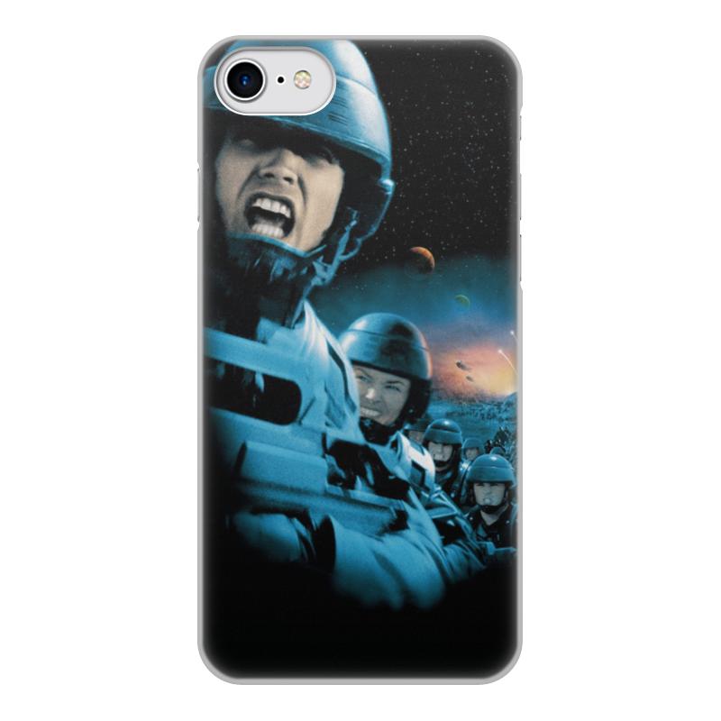 Printio Чехол для iPhone 8, объёмная печать Звездный десант