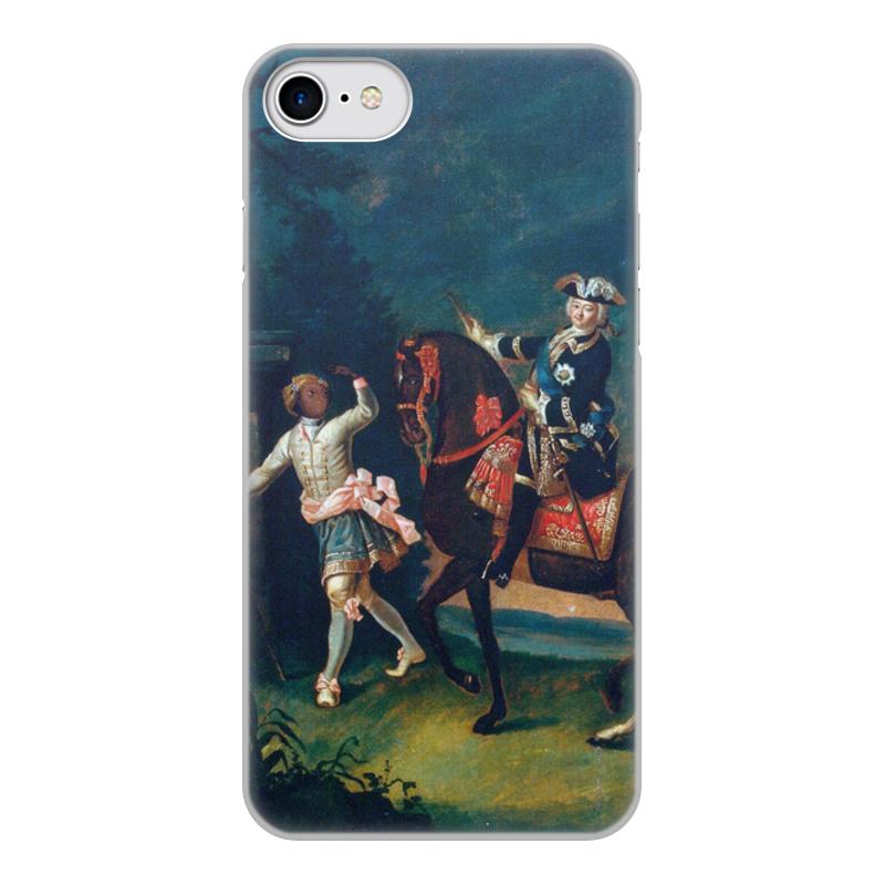 Printio Чехол для iPhone 8, объёмная печать Конный портрет елизаветы петровны с арапчонком