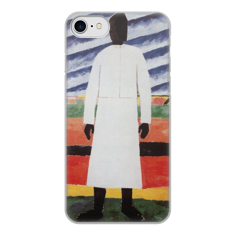 Printio Чехол для iPhone 8, объёмная печать Крестьянка (казимир малевич)