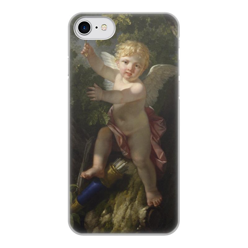 Printio Чехол для iPhone 8, объёмная печать Купидон на дереве (ле барбье жан-жак-франсуа)