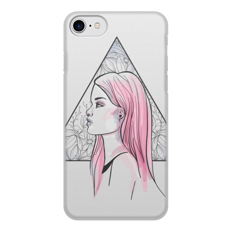 Printio Чехол для iPhone 8, объёмная печать Модная современная девушка в треугольнике