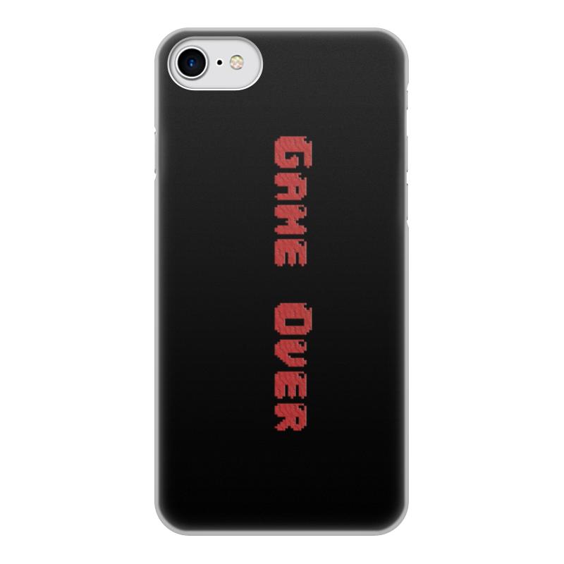 Printio Чехол для iPhone 8, объёмная печать Game over чехол