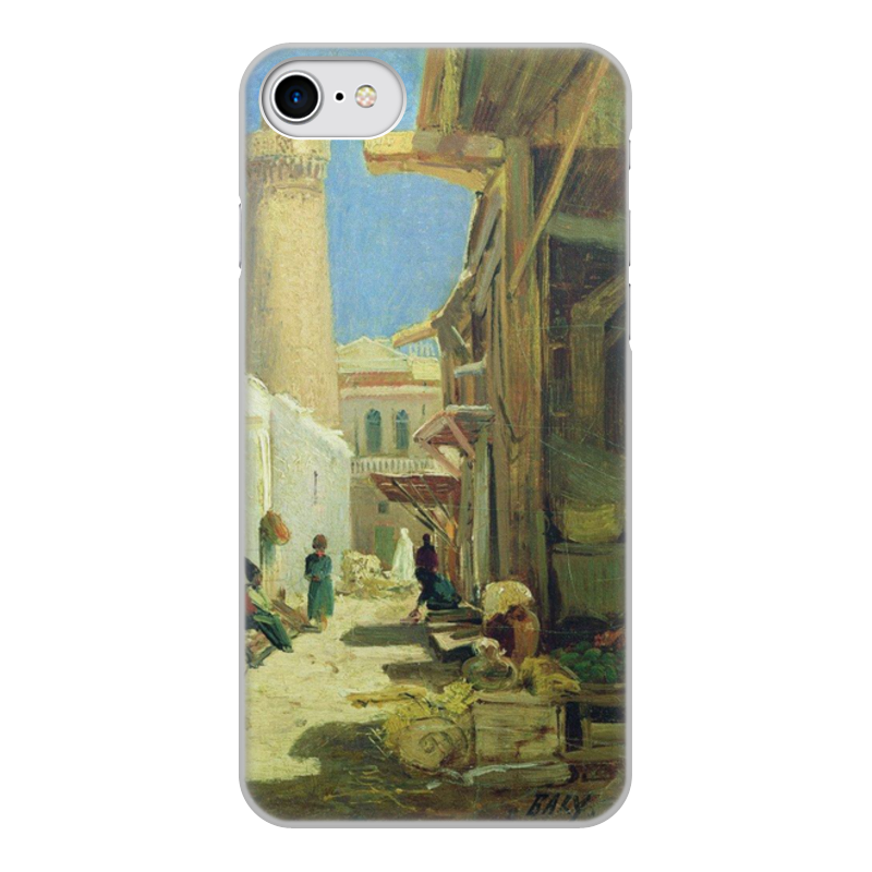 Printio Чехол для iPhone 8, объёмная печать Баку. улица в полдень (алексей боголюбов)