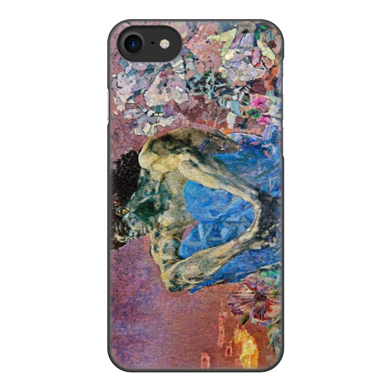 Printio Чехол для iPhone 8, объёмная печать Демон сидящий (михаил врубель)