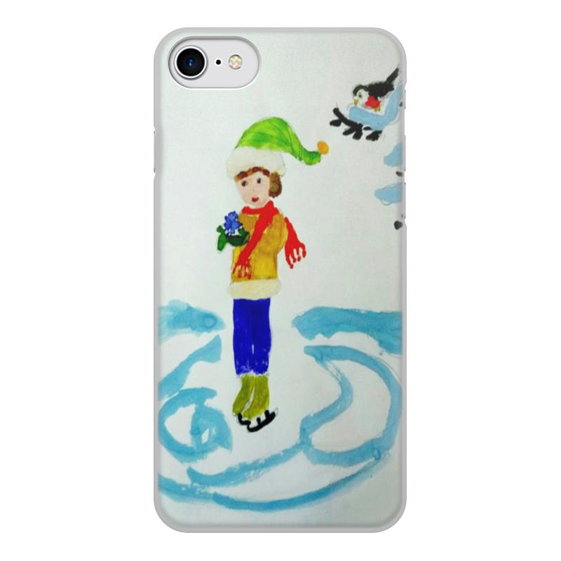Printio Чехол для iPhone 8, объёмная печать Зимние забавы