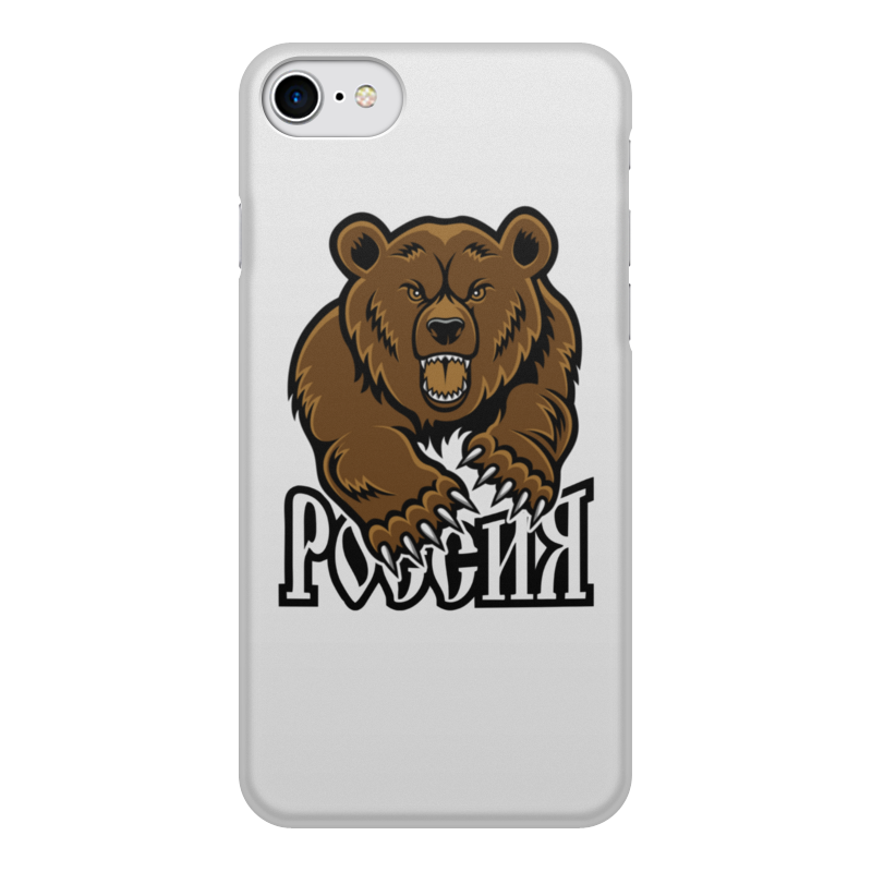 Printio Чехол для iPhone 8, объёмная печать Медведь. символика