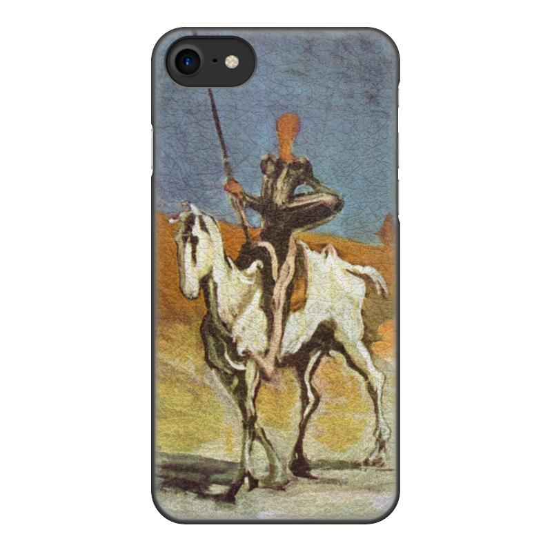 Printio Чехол для iPhone 8, объёмная печать Дон кихот (картина оноре домье) printio чехол для iphone 8 plus объёмная печать дон кихот картина оноре домье