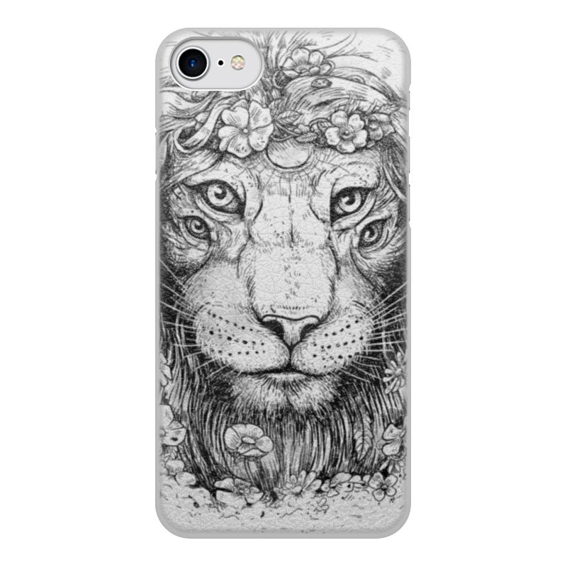 Printio Чехол для iPhone 8, объёмная печать Царь природы