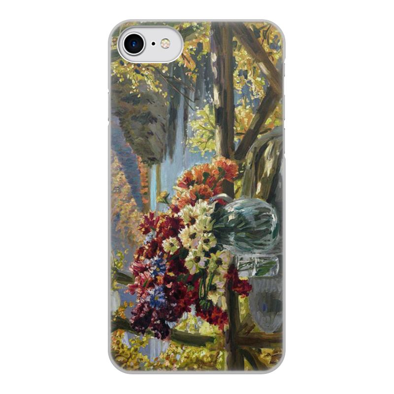 Фото - Printio Чехол для iPhone 8, объёмная печать Цветы на фоне озера (картина вещилова) printio чехол для iphone 7 plus объёмная печать цветы на фоне озера картина вещилова