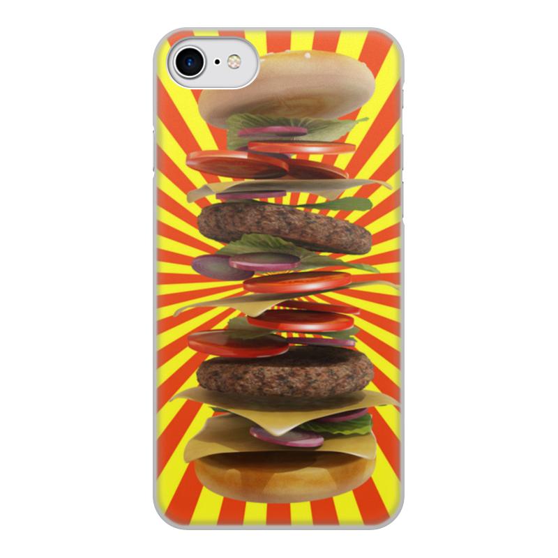 Printio Чехол для iPhone 8, объёмная печать Гамбургер