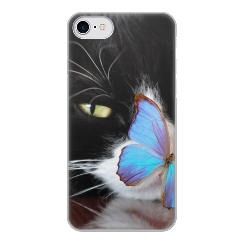 Printio Чехол для iPhone 8, объёмная печать Кошка чехол