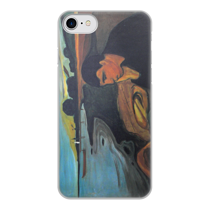 Printio Чехол для iPhone 8, объёмная печать Меланхолия (эдвард мунк)