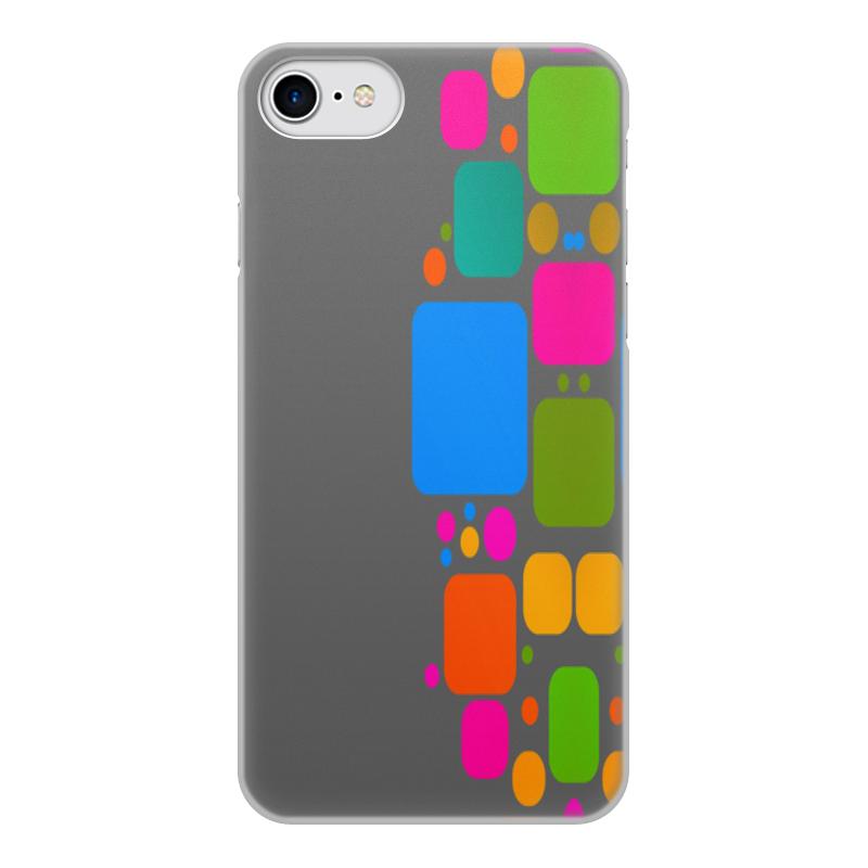 Printio Чехол для iPhone 8, объёмная печать Квадраты чехол