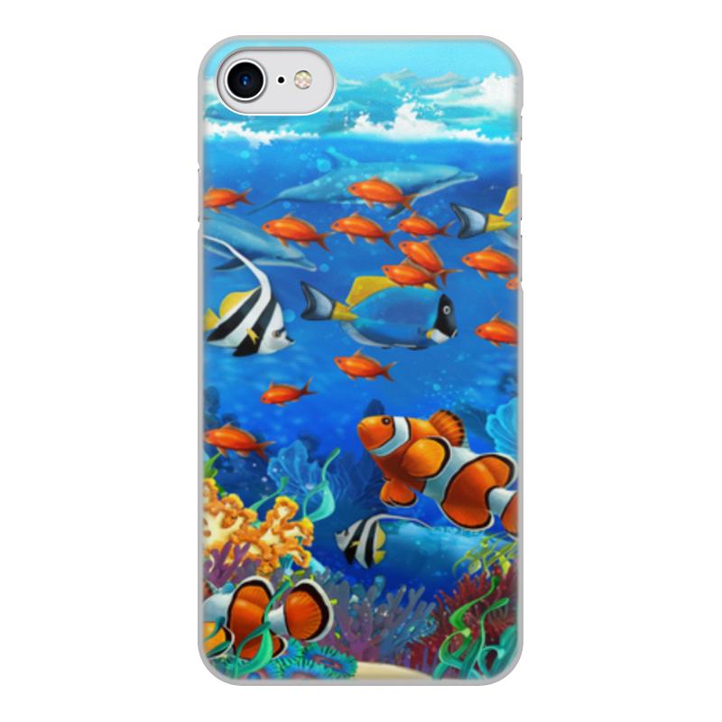Printio Чехол для iPhone 8, объёмная печать Морской риф