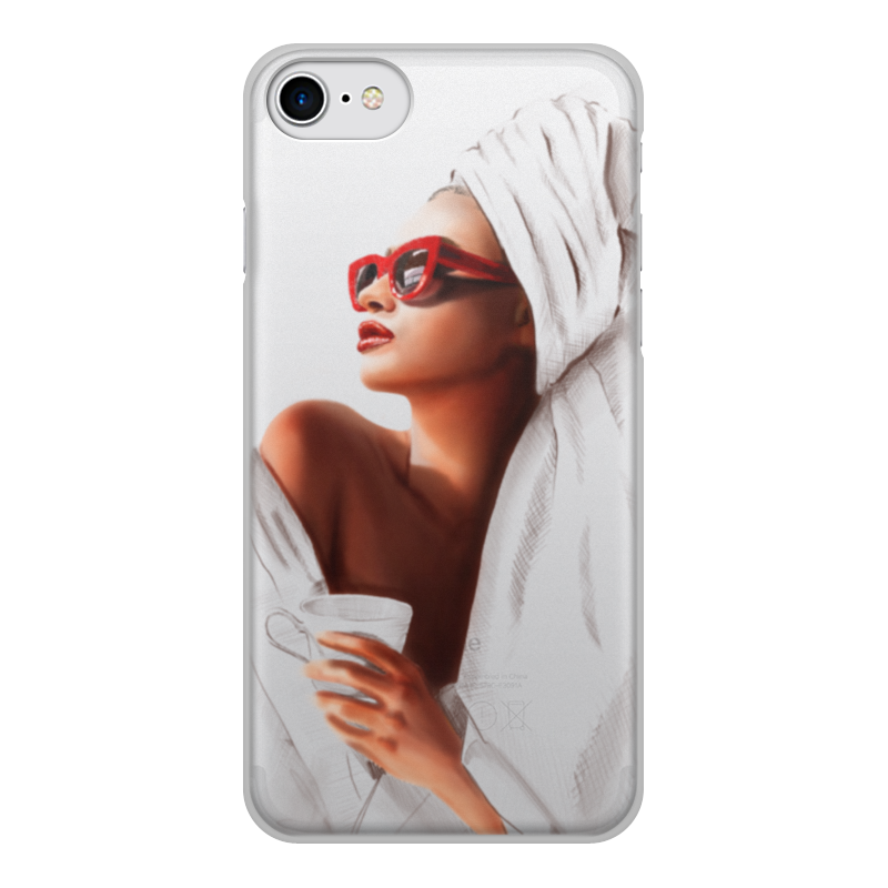 Printio Чехол для iPhone 8, объёмная печать Доброе утро