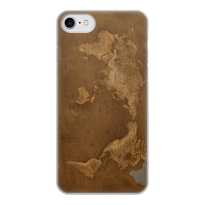 Printio Чехол для iPhone 8, объёмная печать Карта мира