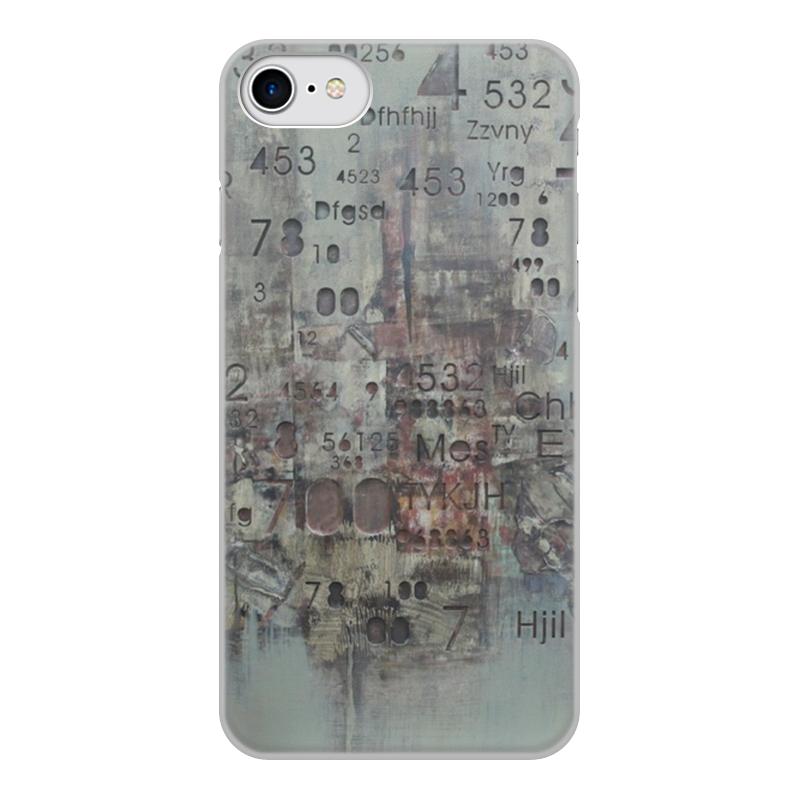 Printio Чехол для iPhone 8, объёмная печать Цифры