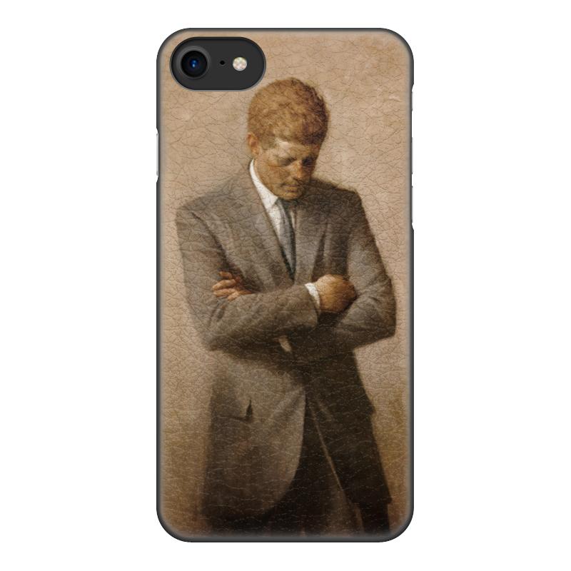 Printio Чехол для iPhone 8, объёмная печать Портрет президента джона ф. кеннеди.