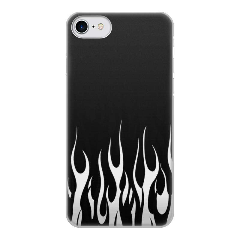 Printio Чехол для iPhone 8, объёмная печать Огонь