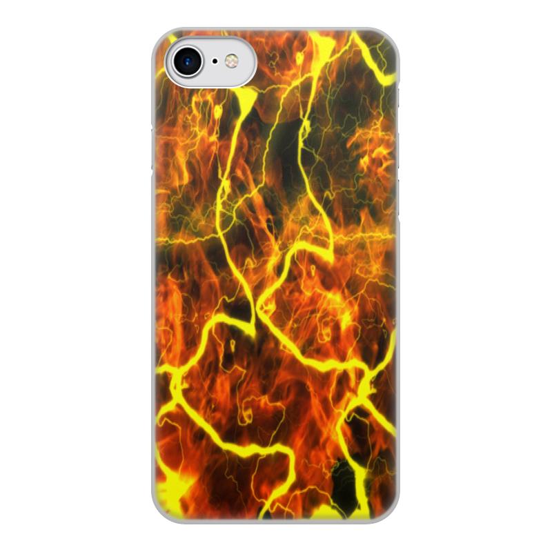 Printio Чехол для iPhone 8, объёмная печать Молния чехол