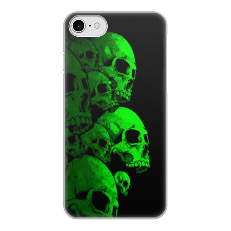 Printio Чехол для iPhone 8, объёмная печать Череп