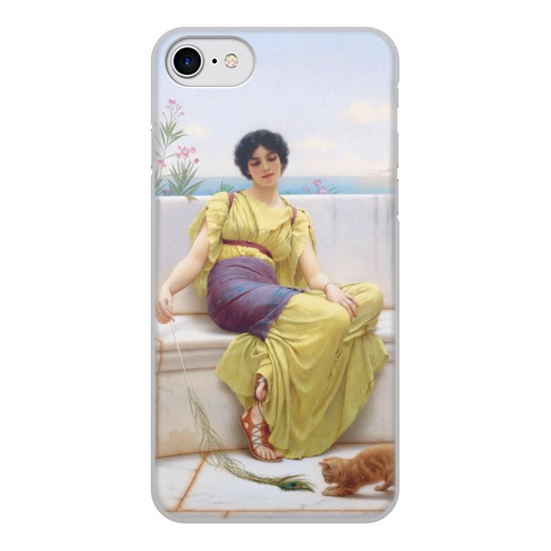 Printio Чехол для iPhone 8, объёмная печать Праздность (джон уильям годвард) недорого