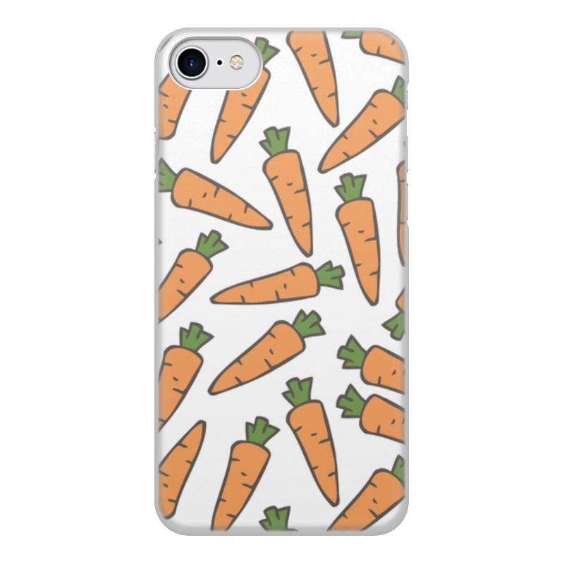 Printio Чехол для iPhone 8, объёмная печать Морковки