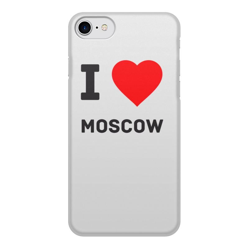 Printio Чехол для iPhone 8, объёмная печать I love moscow