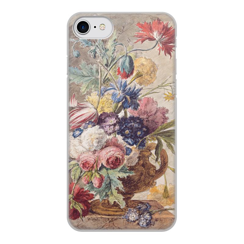Printio Чехол для iPhone 8, объёмная печать Цветочный натюрморт (ян ван хёйсум) printio открытка цветочный натюрморт ян ван хёйсум