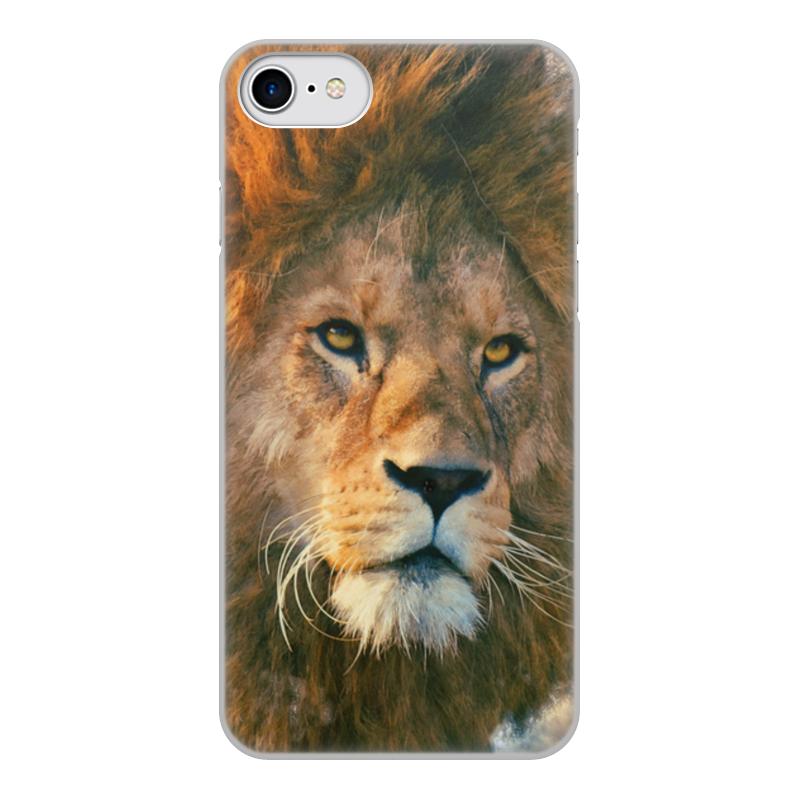 Printio Чехол для iPhone 8, объёмная печать Морда льва
