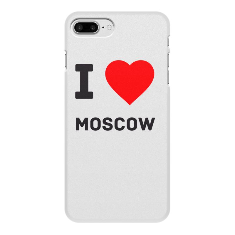 Printio Чехол для iPhone 8 Plus, объёмная печать I love moscow