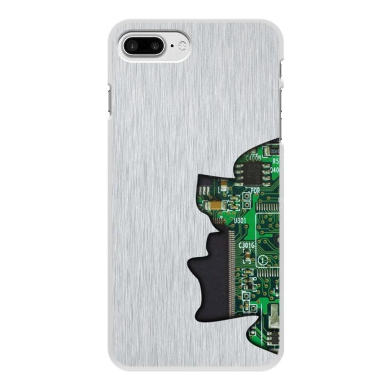 Printio Чехол для iPhone 8 Plus, объёмная печать Внутренний мир телефона (микросхема).