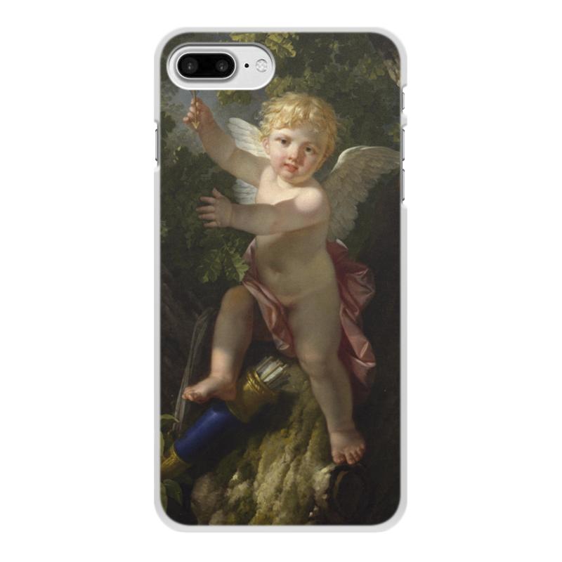 Printio Чехол для iPhone 8 Plus, объёмная печать Купидон на дереве (ле барбье жан-жак-франсуа)