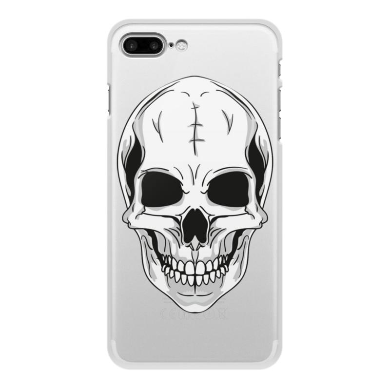 Printio Чехол для iPhone 8 Plus, объёмная печать Череп