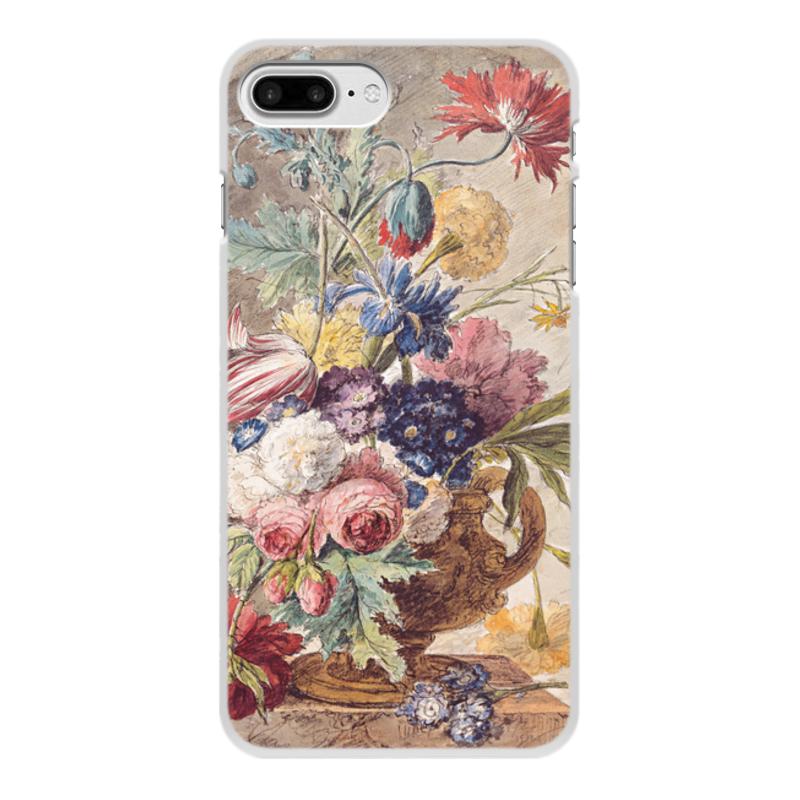 Printio Чехол для iPhone 8 Plus, объёмная печать Цветочный натюрморт (ян ван хёйсум) printio чехол для iphone 5 5s объёмная печать цветочный натюрморт ян ван хёйсум
