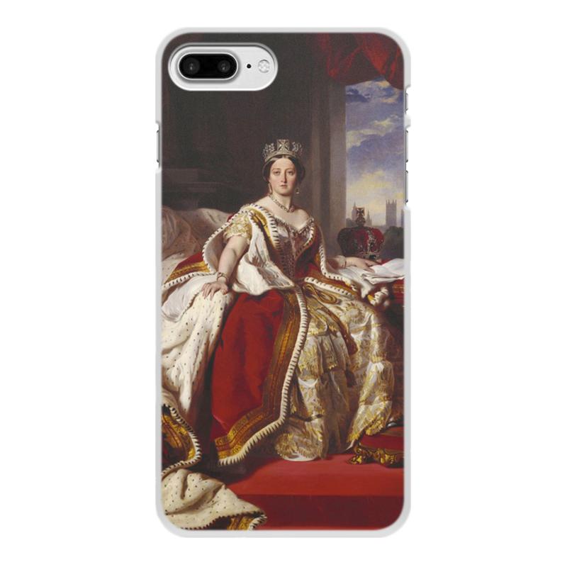 Printio Чехол для iPhone 8 Plus, объёмная печать Портрет королевы великобритании виктории